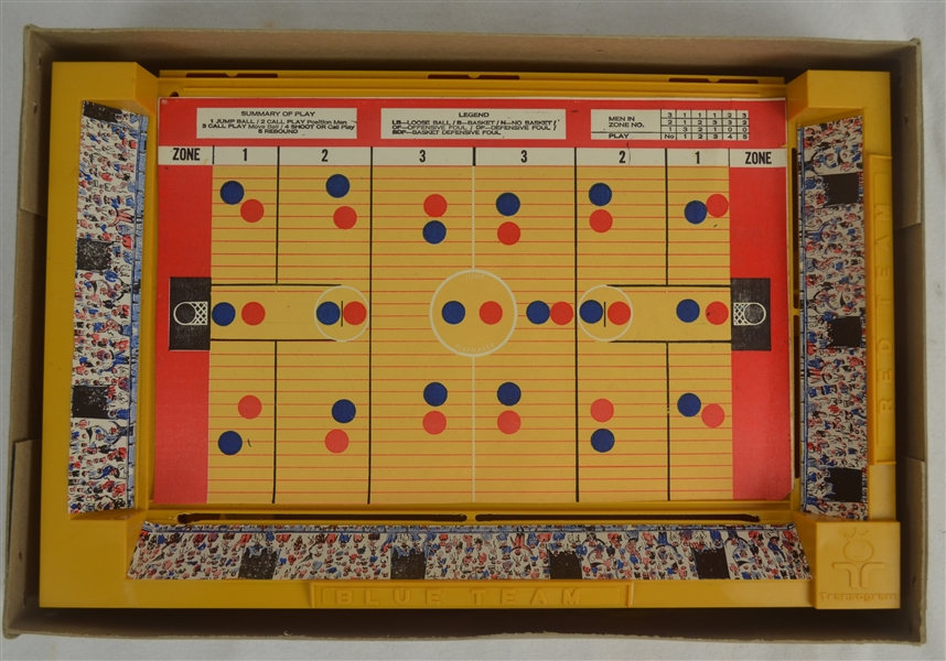 Vintage 1970 Basketball Computerized Action Game by Transogram