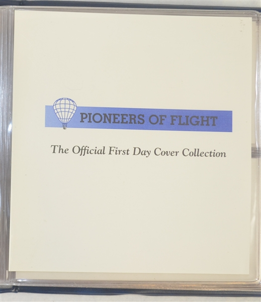 Pioneers In Flight Complete First Day Cover Collection in Binder