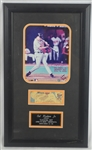 Cal Ripken Jr. 3,000th Hit Autographed Photo & Ticket Display