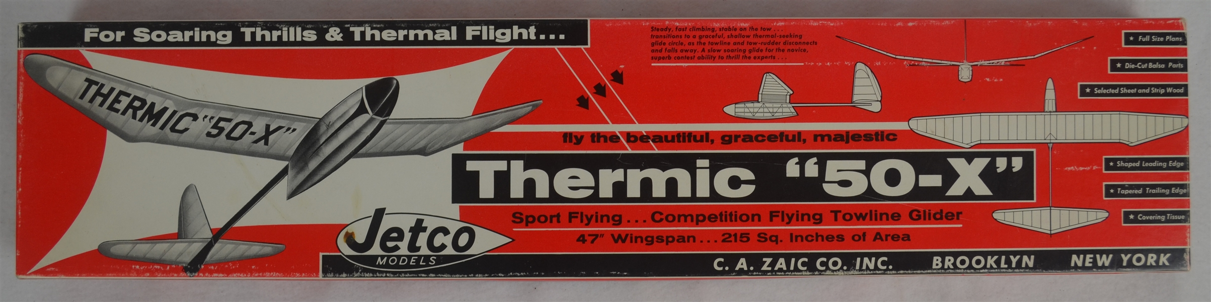 Vintage Jetco Thermic 50-X 1960's Airplane