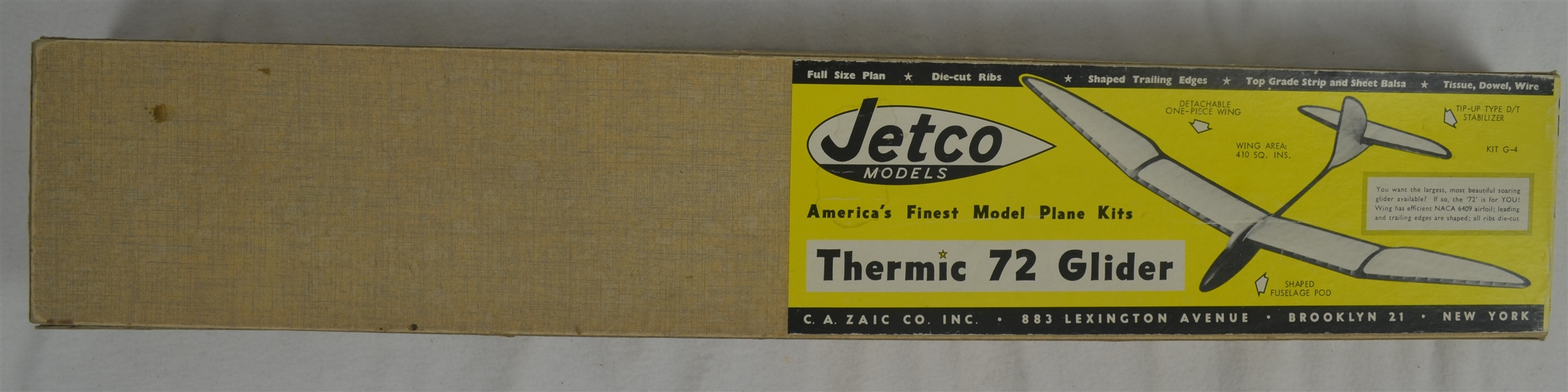 Vintage Jetco Thermic 72 1970's Airplane