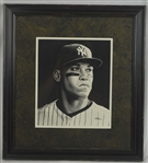 Aaron Judge 11x14 Framed Original James Fiorentino Watercolor Painting