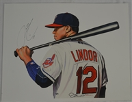 Francisco Lindor Signed Limited Edition James Fiorentino Giclee