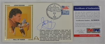 John Riggins Autographed First Day Cover PSA/DNA