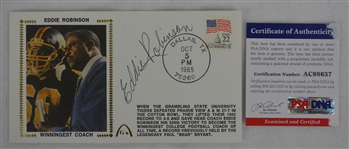 Eddie Robinson Autographed First Day Cover PSA/DNA
