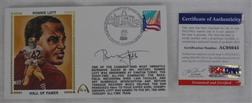 Ronnie Lott Autographed First Day Cover PSA/DNA