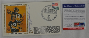 Terry Bradshaw Autographed First Day Cover PSA/DNA