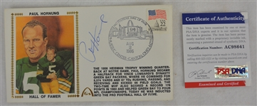 Paul Hornung Autographed First Day Cover PSA/DNA