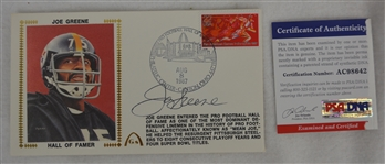Joe Greene Autographed First Day Cover PSA/DNA