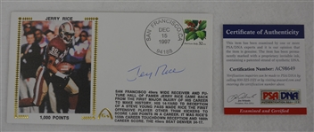 Jerry Rice Autographed First Day Cover PSA/DNA