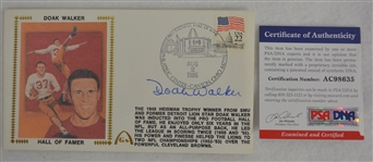 Doak Walker Autographed First Day Cover PSA/DNA