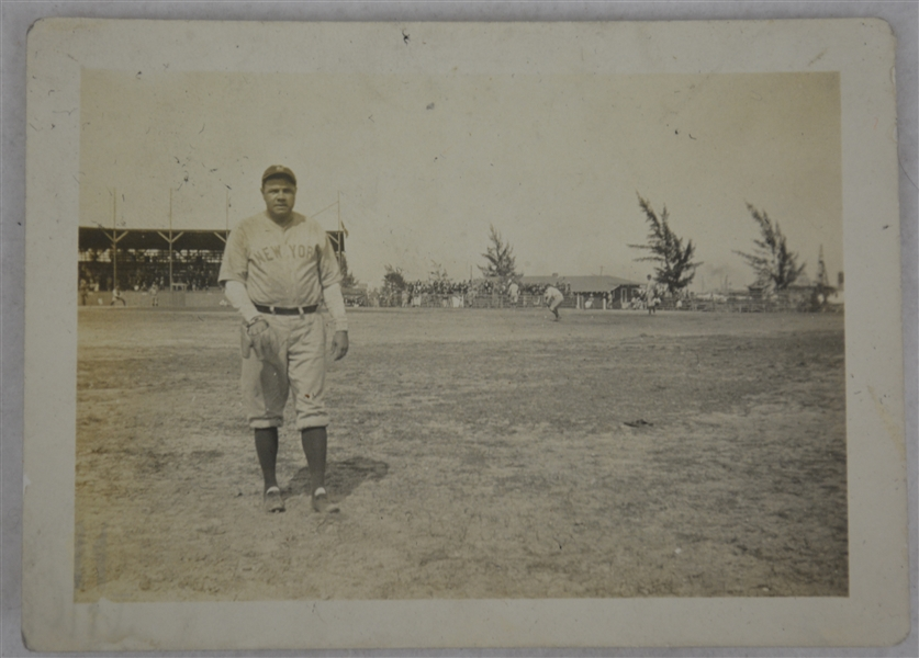 Babe Ruth New York Yankees 1926 Vintage Original Type I Photograph Fielding