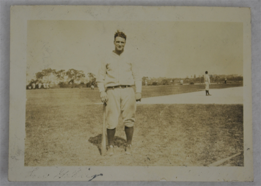 Lou Gehrig New York Yankees 1926 Vintage Original Type I Photograph