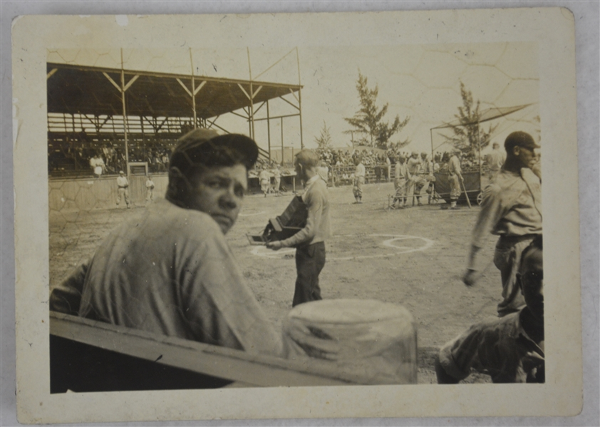Babe Ruth New York Yankees 1926 Vintage Original Type I Photograph Bench Pose