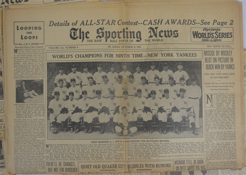Vintage Sporting News Newspaper Collection
