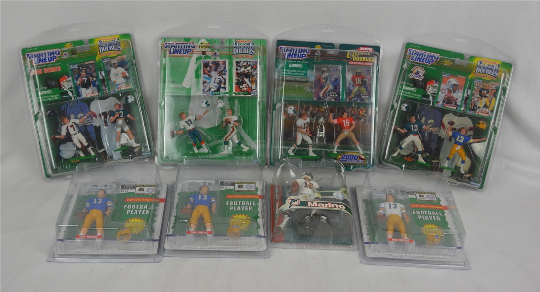 Dan Marino Collection of 8 Mint Starting Line-Ups w/Cases