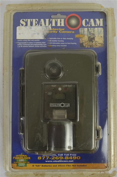 Vintage Stealth Cam 35mm Motion Detector in Original Packaging