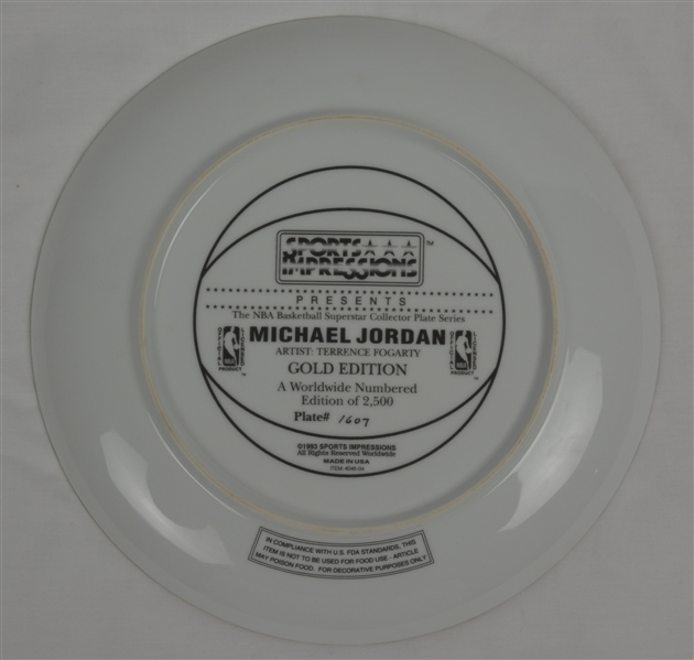 Michael Jordan 1993 Limited Edition Sports Impressions Plate #1607/2500