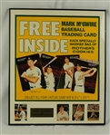 Mark McGwire Autographed Original Mother's Cookies 1989 Advertising Poster