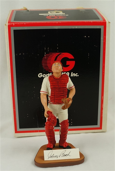 Johnny Bench Autographed Limited Edition Gartlan Figurine #41/1989