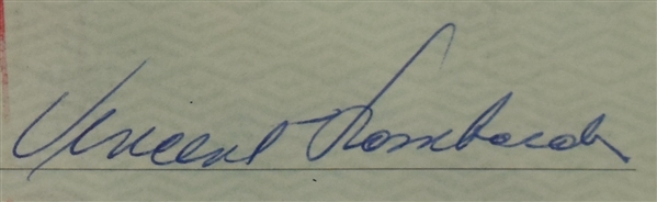 Vince Lombardi Signed 1962 Personal Check #127 BGS Authentic From 2nd NFL Championship Season