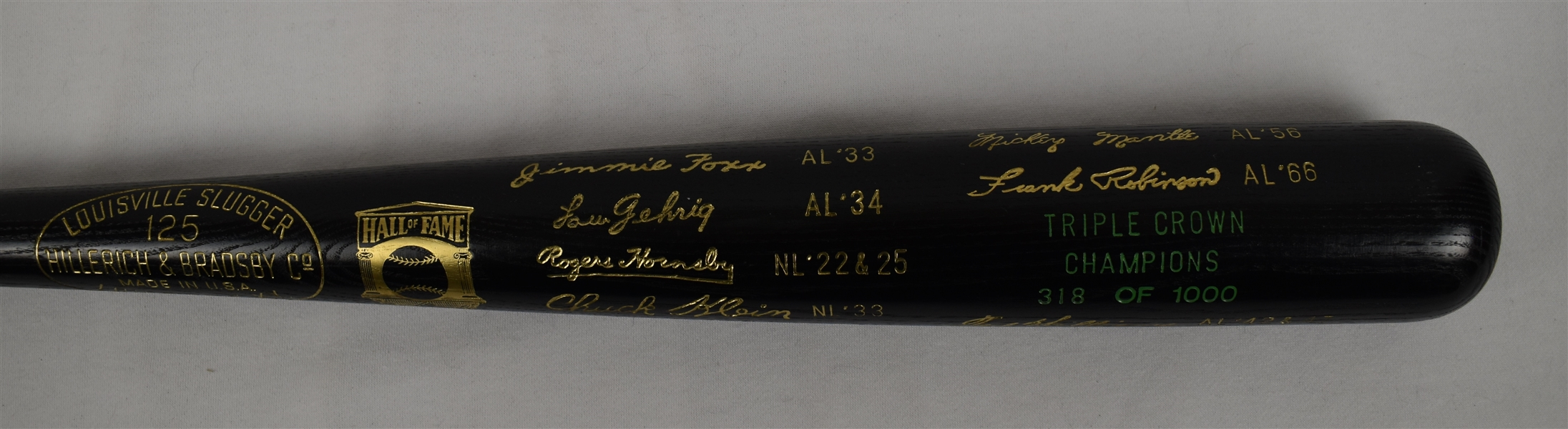 Triple Crown Winners Black Bat