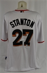 Giancarlo Stanton Autographed Miami Marlins Jersey