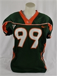 Miami Hurricanes Game Used Game Used Home Green Jersey