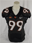 Miami Hurricanes Game Used Game Used Home Gray Jersey