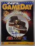 Steve Young Autographed 1992 NFC Championship Game Program
