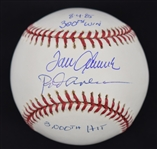 Tom Seaver 300 Win & Rod Carew 3,000 Hit Autographed Inscribed Baseball