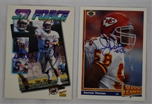 Derrick Thomas & Steve McNair Lot of Autographed Football Cards