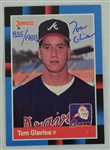 Tom Glavine Autographed Atlanta Braves Rookie Card