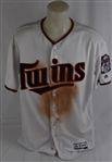 Joe Mauer 2016 Minnesota Twins Professional Model Jersey w/Heavy Use MLB Authentication