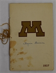 Bernie Bierman Twice Signed 1937 Minnesota Gophers Program
