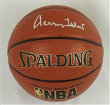 Jerry West Autographed Spalding NBA Basketball