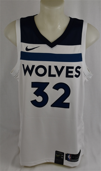 Karl Anthony-Towns Minnesota Timberwolves Autographed Jersey