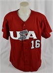 Austin Jackson 2009 Team USA Jersey w/Medium Use