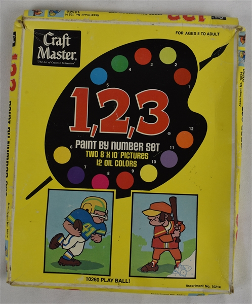 Craft Master 1, 2, 3, 1975 Paint By Numbers Set