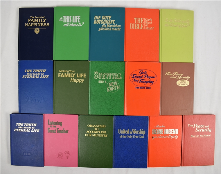 Collection of 16 1960's-1980's Watchtower Hardcover Books