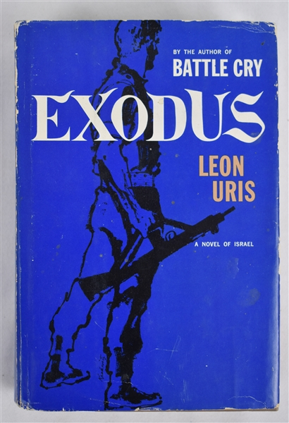 Exodus 1958 Hard Cover First Edition Book by Leon Uris