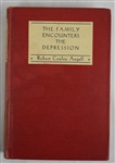 The Family Encounters the Depression 1936 Hard Cover First Edition Book by Robert Cooley Angell