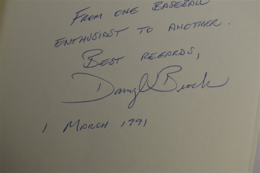 If I Never Get Back 1990 Hard Cover Book Signed by Darryl Brock
