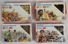 Vintage Collection of 5 British Muslim & Zulu Soldiers & 1879 Historic Battle by ESCI