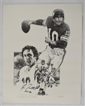 Fran Tarkenton Signed Limited Edition Lithograph