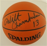 Wilt Chamberlain Autographed Genuine Leather NBA Game Basketball