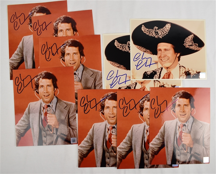Chevy Chase Lot of 9 Autographed 8x10 Photos