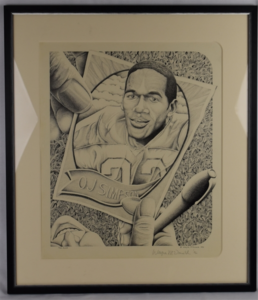 O.J. Simpson Limited Edition Lithograph