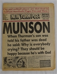 Thurman Munson Passes Away Newspaper