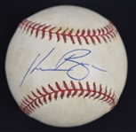 Kevin Brown Signed Game Used ONL Leonard Coleman Baseball